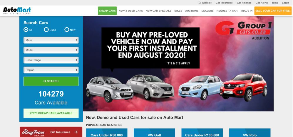 Auto Mart - Buy & Sell Cars Anywhere in South Africa