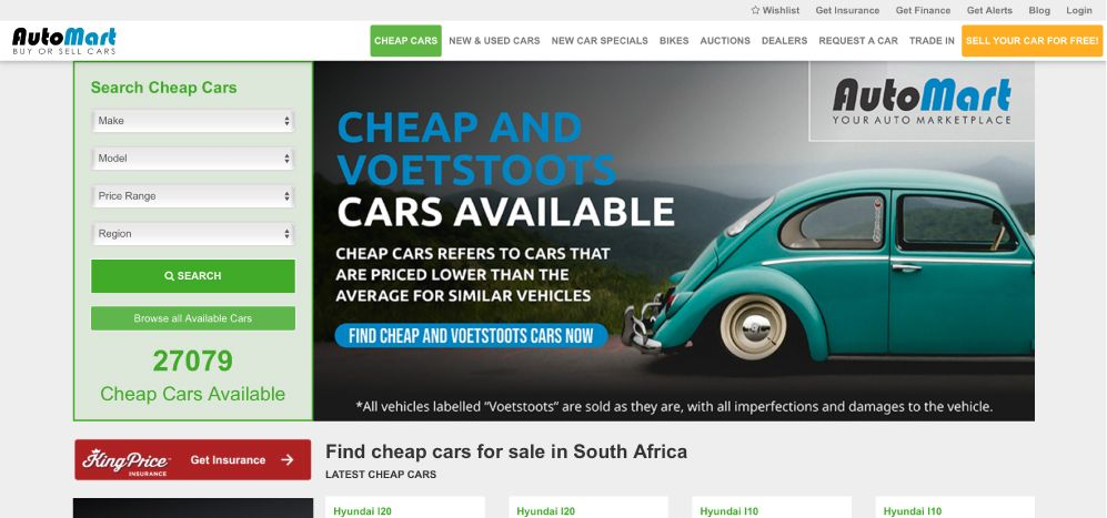 Find Cheap Cars For Sale On Auto Mart