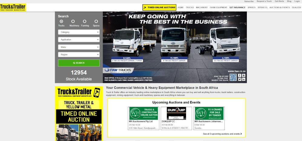 List your commercial vehicles and equipment on Truck & Trailer