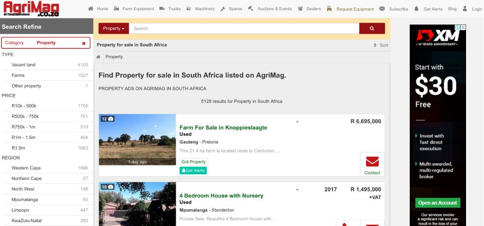 How to find Vacant Land and Farms For Sale on AgriMag