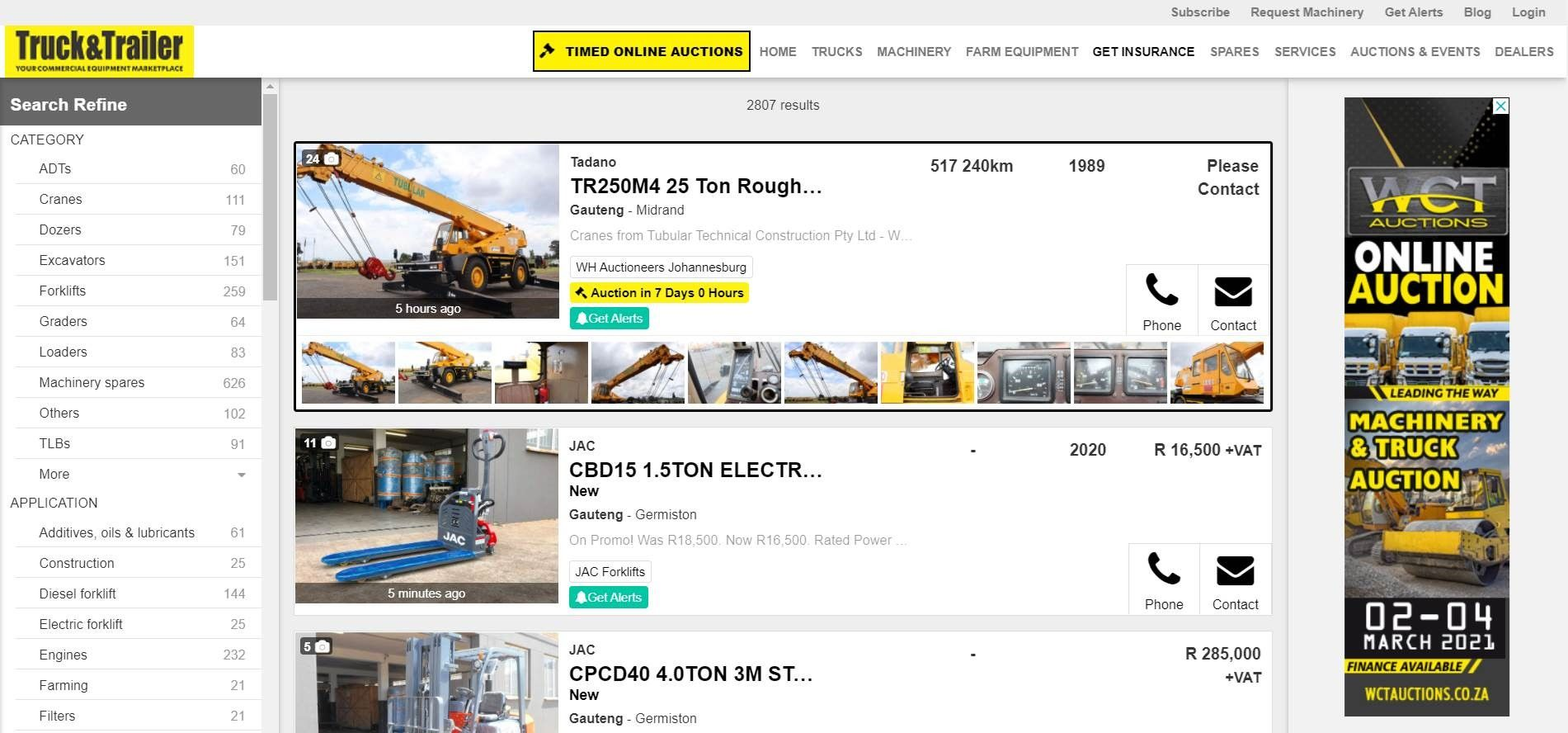 Search Results Page Banner | Truck & Trailer