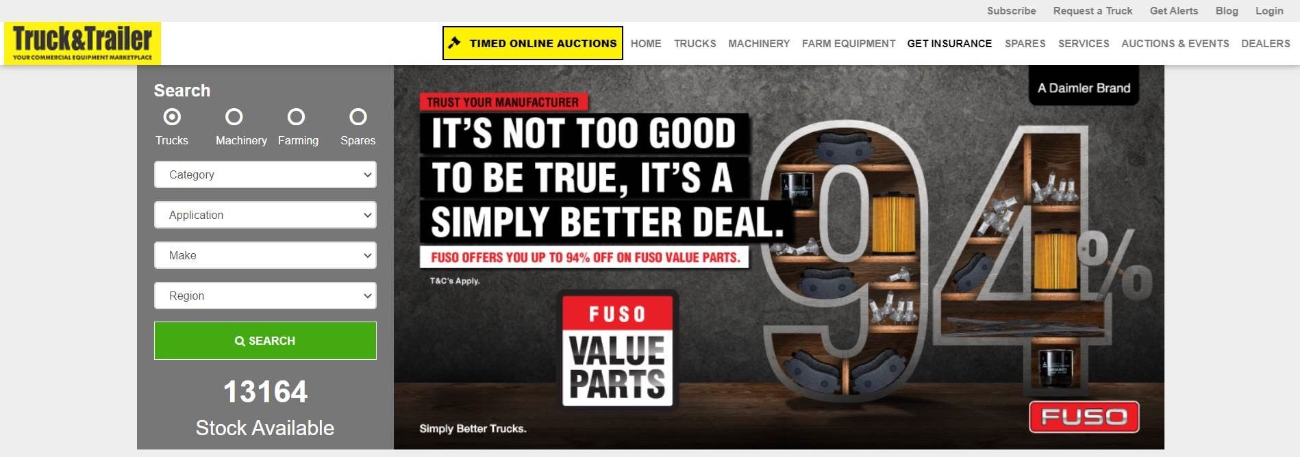 Home Page Banner | Truck & Trailer