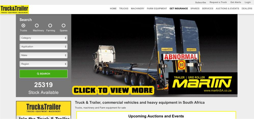 Find Commercial Vehicle and Heavy Equipment For Sale on Truck & Trailer