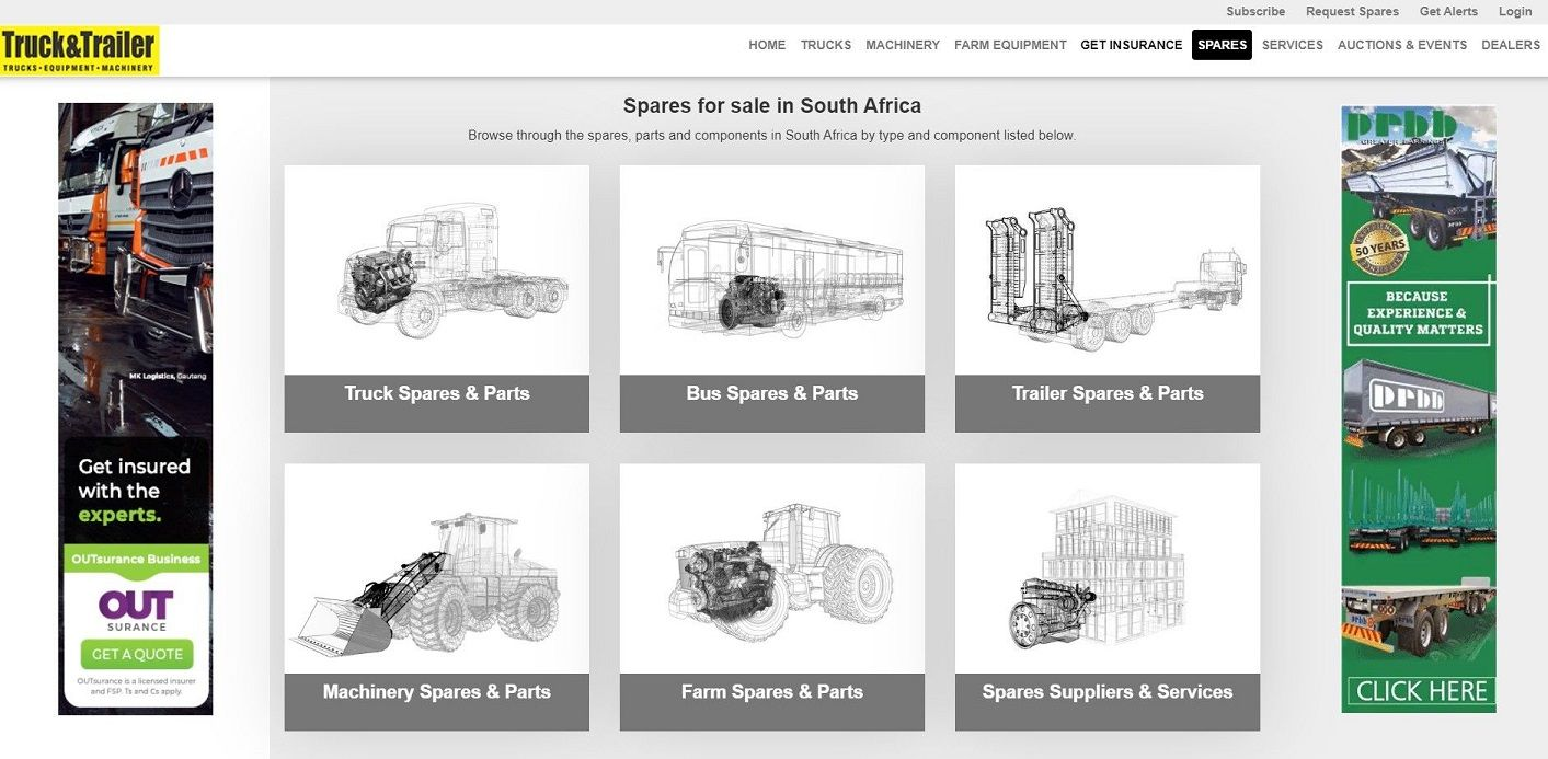 Find Commercial Vehicle and Heavy Equipment Spares on Truck & Trailer