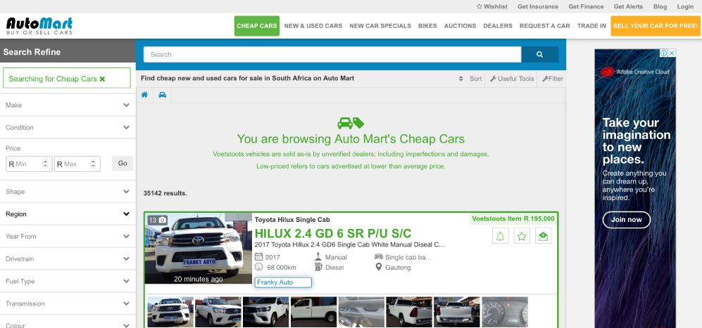 How to find cheap cars for sale on Auto Mart