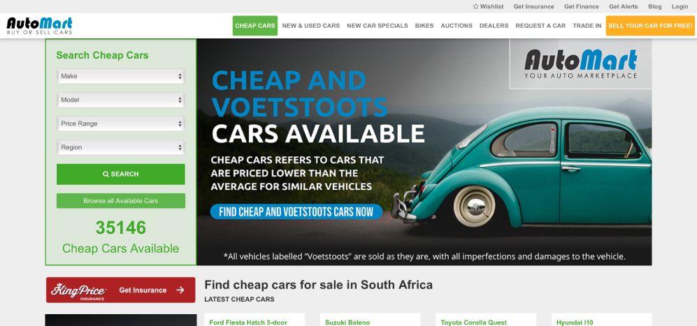 Auto Mart Cheap Car Listings