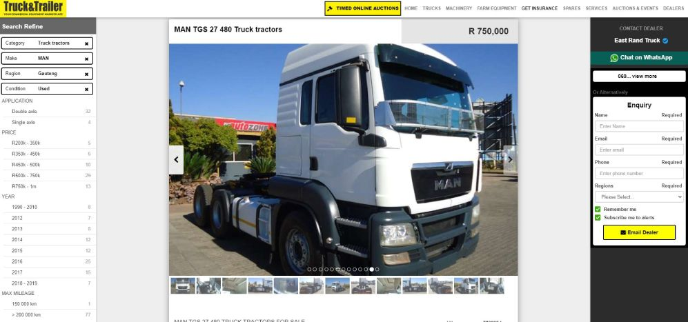 Add unique descriptions and quality photos to your advert listings | Truck & Trailer