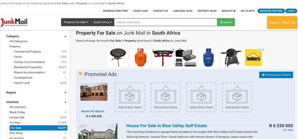 How to buy and sell properties on Junk Mail