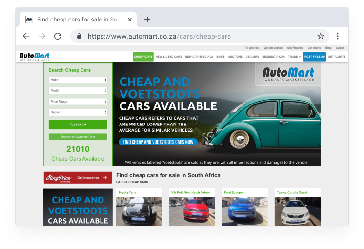Cheap Cars Page | Auto Mart