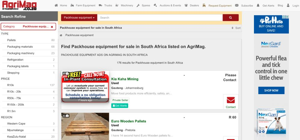 How to find packhouse equipment for sale on AgriMag
