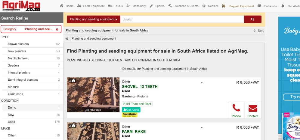 How to find planting and seeding equipment on AgriMag